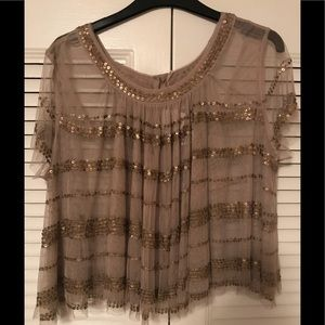 Free People sequin camisole top